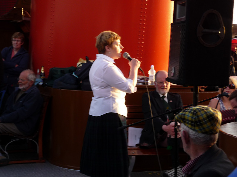Members of the Oban Gaelic Choir performed songs in Gaelic and English