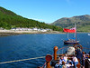 View astern from the World's Last Seagoing Paddle Steamer to the UK's most remote settlement, Inverie on Loch Nevis, the loch of heaven. The only routes into the village are by sea or over a long rough mountain track