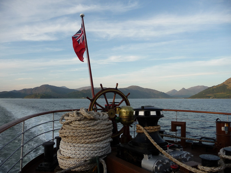 View astern in Loch Linnhe