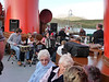 Passengers sang along and danced to the music of the ceilidh band