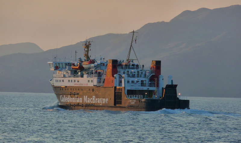 Late that day, after her visit to Armadale (Skye) and Inverie in Loch Nevis, Waverley passed Lord of the Isles in the Sound of Mull off Drimnin at around 2200. Lottie was sailing unscheduled times due to Clansman's non availability.
