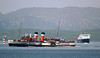 Waverley swings to starboard to follow the precise channel into Oban Bay