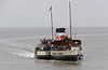 Waverley, Clevedon, Mon 3 September 2012 2 - 1212.  She did not approach the pier head directly, but through a 180 degree turn.