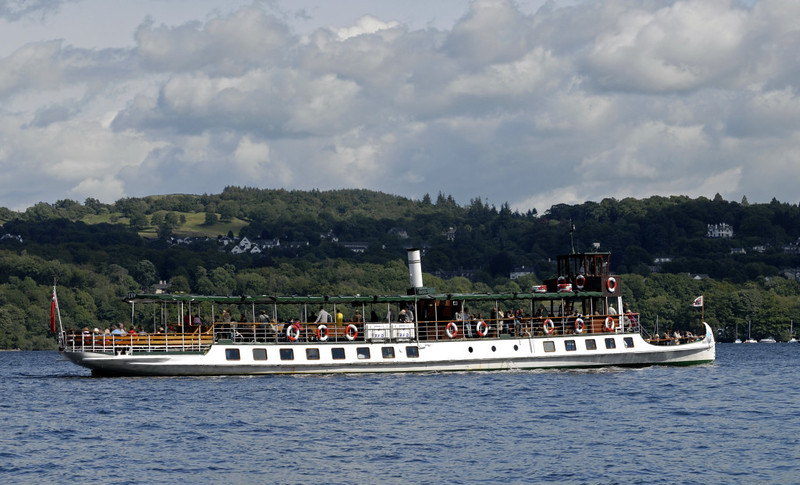 Tern, Lake Windermere, Sat 23 July 2011 3: Approaching Bowness.  Tern is one of three former railway ships now operated by Windermere Lake Cruises.