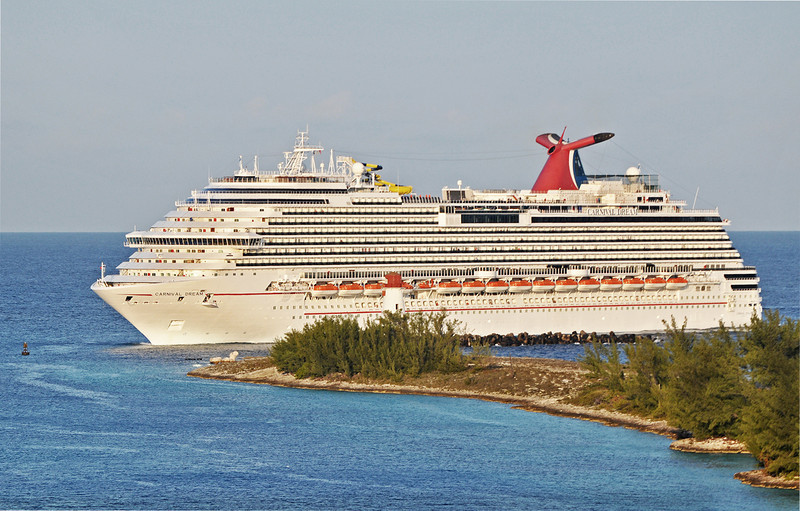 Carnival Dream entering Nassau harbor. 2011