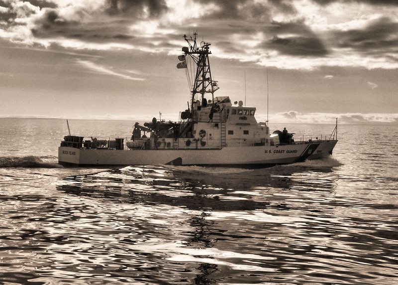 110 ft USCG Cutter Block Island, underway off the Coast of North Carolina. 2008.