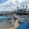 Tops deck of the cruise ship Sun Princess.