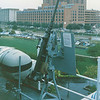 Date: unknown<br /> Location: Baltimore, MD<br /> USS Spartanburg County, LST-1192<br /> 50 cal mount