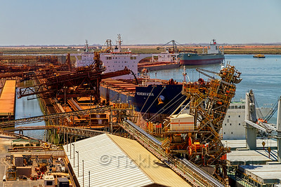 Loading the Capesize Bulk Carrier 'Monemvasia' with Iron Ore
