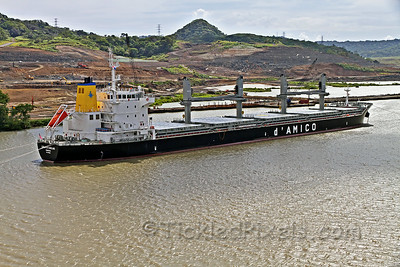 Canal Expansion behind the Dry-bulk Carrier 'Cielo di Dublino'