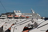 CARNIVAL INSPIRATION over QUEEN MARY's Port Lifeboat Davits Long Beach 17-04-2017 17-05-28