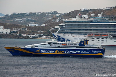 SUPERRUNNER Departing Passing ROYAL PRINCESS Mykonos PDM 16-06-2017 17-40-27