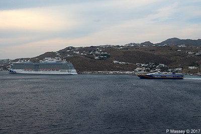 SUPERRUNNER Departing ROYAL PRINCESS Mykonos PDM 16-06-2017 17-39-12