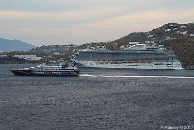 SUPERRUNNER Departing Passing ROYAL PRINCESS Mykonos PDM 16-06-2017 17-40-034