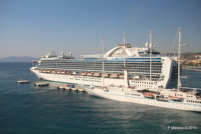 EMERALD PRINCESS Departing Kusadasi WIND STAR 22-07-2015 15-13-20