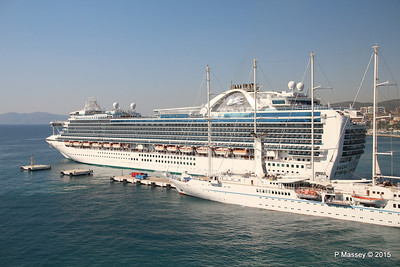 EMERALD PRINCESS Departing Kusadasi WIND STAR 22-07-2015 15-13-27