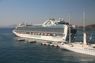 EMERALD PRINCESS Departing Kusadasi WIND STAR 22-07-2015 15-14-35
