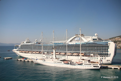 EMERALD PRINCESS Departing Kusadasi WIND STAR 22-07-2015 15-11-57