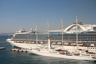 EMERALD PRINCESS Departing Kusadasi WIND STAR 22-07-2015 15-11-51