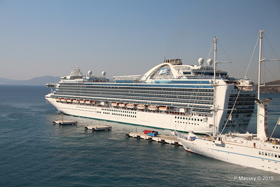EMERALD PRINCESS Departing Kusadasi WIND STAR 22-07-2015 15-14-25
