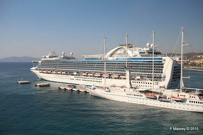 EMERALD PRINCESS Departing Kusadasi WIND STAR 22-07-2015 15-13-21