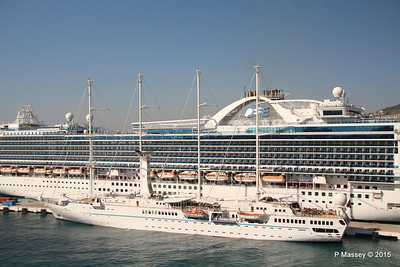 EMERALD PRINCESS Departing Kusadasi WIND STAR 22-07-2015 15-11-48