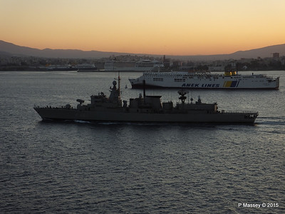HS NAVARINON F 461 with KRITI I Passing Piraeus PDM 23-07-2015 03-37-52