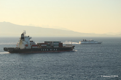SPEEDRUNNER IV Overtakes YM INCREMENT Piraeus Approaches PDM 23-07-2015 04-23-47