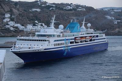 CELESTYAL ODYSSEY Arriving Mykonos 16 Oct 2015