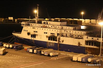 Fire Damaged NORMAN ATLANTIC Bari 22 Nov 2015