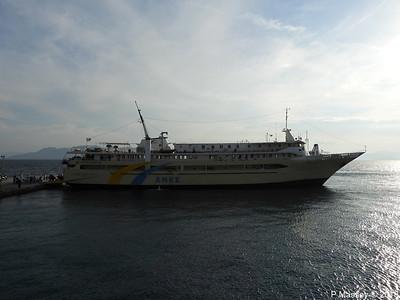 AGIOS NEKTARIOS AIGINAS with POSIDON HELLAS Departing Aegina PDM 14-09-2018 18-03-31