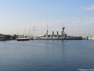OLYMPIAS THALIS O MILISSIOS EUGENIOS EUGENIDES Battleship GEORGIOS AVEROF Flisvos PDM 14-09-2018 08-25-10