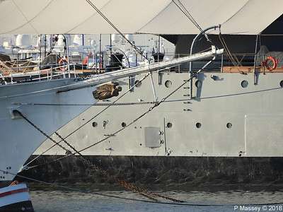 Bow EUGENIOS EUGENIDES behind is Battleship GEORGIOS AVEROF Flisvos PDM 14-09-2018 08-25-58