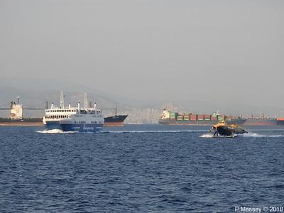 ACHAIOS FLYING DOLPHIN ATHINA Inbound Aegina Piraeus Roads PDM 14-09-2018 18-44-54