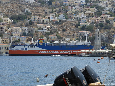 PANAGIA SKIADENI Arriving with Clock Tower Ano Symi PDM 12-09-2018 13-05-57