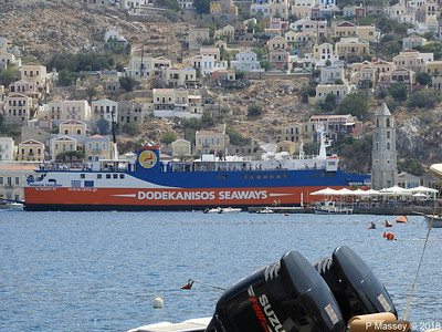 PANAGIA SKIADENI Arriving with Clock Tower Ano Symi PDM 12-09-2018 13-05-56