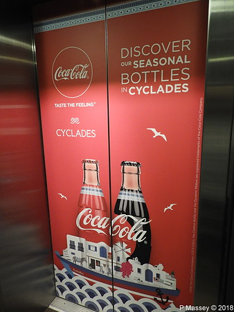 Ad Cyclades Coca Cola Bottles On Board BLUE STAR PATMOS PDM 12-09-2018 23-22-02