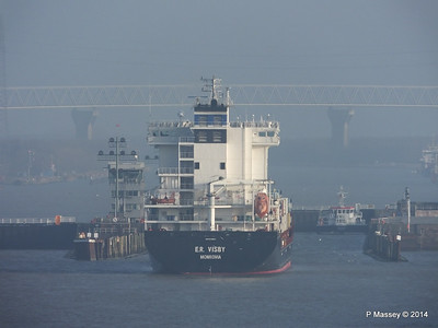 ER VISBY Approaching the Kiel Canal PDM 16-12-2014 09-41-54