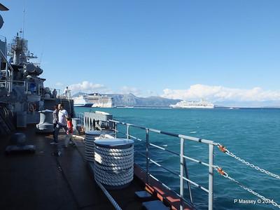 ORIANA EUROPALINK MSC FANTASIA from RFS MOSKVA 121 Corfu PDM 26-09-2014 16-30-17
