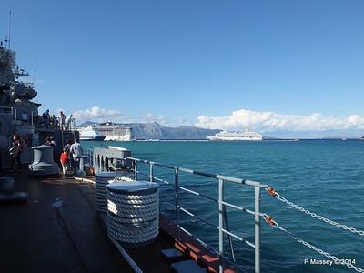 ORIANA EUROPALINK MSC FANTASIA from RFS MOSKVA 121 Corfu PDM 26-09-2014 16-30-27