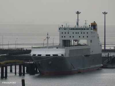 ADELINE, yet to be christened - will be 26 Oct 2012 alongside HMS Belfast