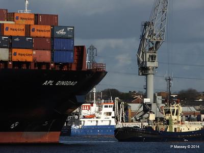 APL QINGDAO Departing Southampton PDM 09-01-2014 14-19-40