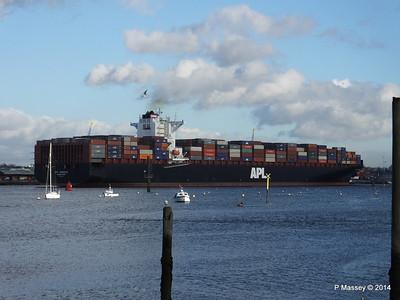 APL QINGDAO Departing Southampton PDM 09-01-2014 14-23-19