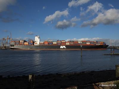 APL QINGDAO Departing Southampton PDM 09-01-2014 14-16-57