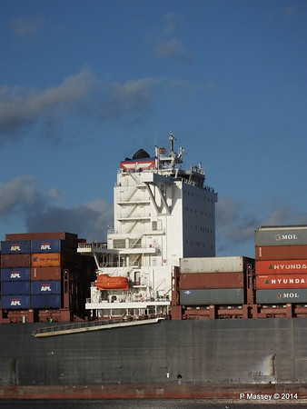 APL QINGDAO Departing Southampton PDM 09-01-2014 14-16-04