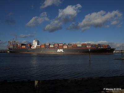 APL QINGDAO Departing Southampton PDM 09-01-2014 14-15-51