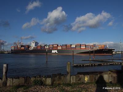 APL QINGDAO Departing Southampton PDM 09-01-2014 14-15-12
