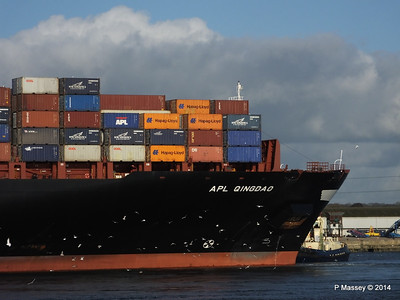 APL QINGDAO Departing Southampton PDM 09-01-2014 14-16-18