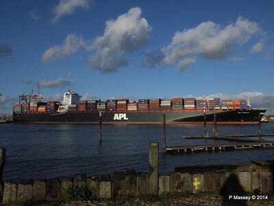 APL QINGDAO Departing Southampton PDM 09-01-2014 14-15-15