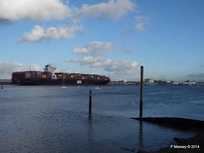 APL QINGDAO Departing Southampton PDM 09-01-2014 14-22-21